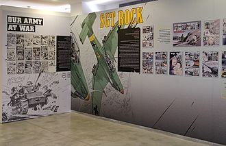 Joe Kubert - Joe, Adam and Andy Kubert, Heroes, The Israeli Cartoon Museum, Holon, Israel, 2011, Display View