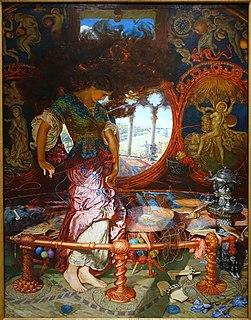 <i>The Lady of Shalott</i> (William Holman Hunt) Painting by William Holman Hunt