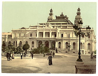 Monte Carlo Casino - Facade on the Place du Casino after the expansion of 1878–79