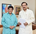 The Lt. Governor of Puducherry, Ms. Kiran Bedi calling on the Minister of State for Culture and Tourism (Independent Charge), Dr. Mahesh Sharma, in New Delhi on July 25, 2016.jpg