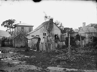 "Wellington - ""The Old Shebang"" on Cuba Street, c. 1883"