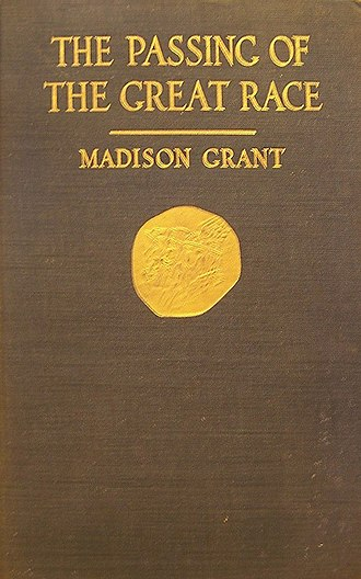 The Passing of the Great Race - Cover of the 1st edition (1916)