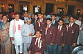 The President Dr. A.P.J. Abdul Kalam and the Union Minister for Youth Affairs and Sports Shri Sunil Dutt with the winners of the sports and Adventure Awards, in New Delhi on September 21, 2004.jpg