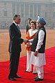 The Prime Minister, Dr. Manmohan Singh at ceremonial reception of the President of the Republic of Portugal His Excellency Prof. Anibal Cavaco Silva, in New Delhi on January 11, 2007.jpg