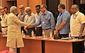 The Prime Minister, Shri Narendra Modi being introduced to the Secretaries to the Government of India, before the meeting with the Secretaries, in New Delhi on June 04, 2014 (1).jpg