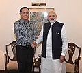 The Prime Minister, Shri Narendra Modi meeting the Prime Minister of Thailand, Mr. Prayut Chan-o-cha, on the sidelines of the 4th BIMSTEC Summit, in Kathmandu, Nepal on August 31, 2018.JPG