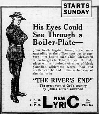 The River's End (film) - Newspaper advertisement