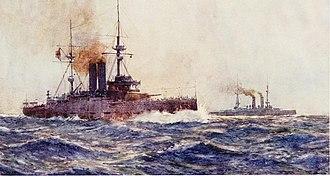 HMS King Edward VII - Painting of King Edward VII underway
