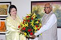 The Speaker of the Lok Sabha, Shri Somnath Chatterjee calls on the Bangladesh Prime Minister H.E. Begum Khaleda Zia, in New Delhi on March 20, 2006.jpg