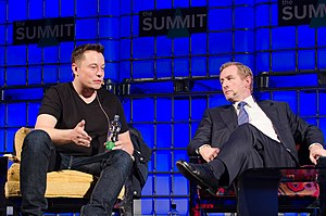 Elon Musk - Musk speaking alongside Irish Taoiseach (Prime Minister) Enda Kenny