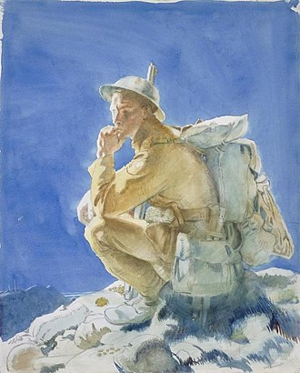 Attacks on the Butte de Warlencourt - Image: The Thinker on the Butte de Warlencourt