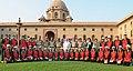 The Union Home Minister, Shri Sushil Kumar Shinde with the girls students from Jammu Region under banner Siksha Kiran - CRPF, in New Delhi on October 11, 2012.jpg