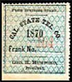 The United States 1870 Sc 5T1 California State Telegraph Company stamp.jpg