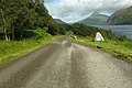 The West-bound A838 and the NW Highlands Geopark sign - geograph.org.uk - 1457209.jpg