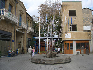 """The """"Green Line"""" in Ledra Street, Ni..."""