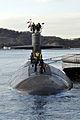 The fast attack submarine USS City of Corpus Christi (SSN 705) arrives at Fleet Activities Yokosuka, Japan, during a port visit Dec. 23, 2013 131223-N-MF277-001.jpg