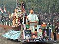 The tableau of Assam passes through the Rajpath during the full dress rehearsal for the Republic Day Parade-2014, in New Delhi on January 23, 2014.jpg