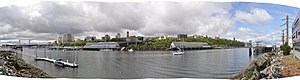 Thea Foss Waterway - Image: Thea Foss Waterway pano 01