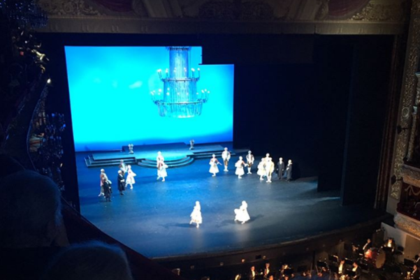 Theatrical scene. View from above