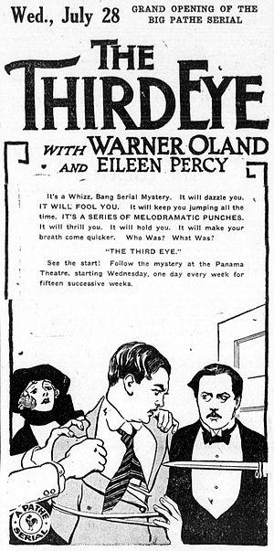 The Third Eye (serial) - Newspaper advertisement.