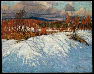 Algonquin Provincial Park - Tom Thomson, In Algonquin Park, Winter 1914-15. McMichael Canadian Art Collection, Kleinburg