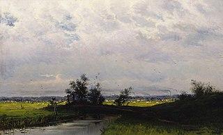 Landscape from lowlands near Haarlem