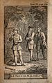 Three men in a wood, a scene from Molière's play Le médecin Wellcome V0016110ER.jpg