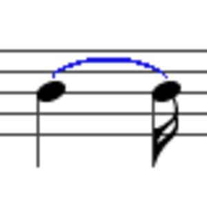 Tie (music) - Image: Tie music