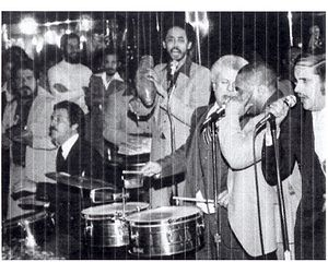 Roger Dawson - Roger Dawson with Tito Puente at the Corso Club, New York City, 1976