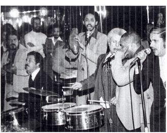 Roger Dawson - Roger Dawson with Tito Puente at the Corso Club, New York City, 1976
