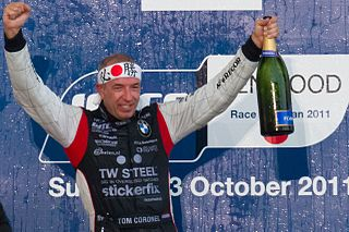 World Touring Car Championship 2011 Race of Japan: Tom Coronel (ROAL Motorsport) celebrating the victory in the race 2.