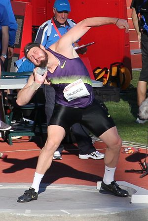 Tomasz Majewski -  Putting at the 2010 Bislett Games