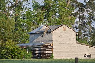 Tornado outbreak of April 14–16, 2011 - Tornado damage near Dunn, NC