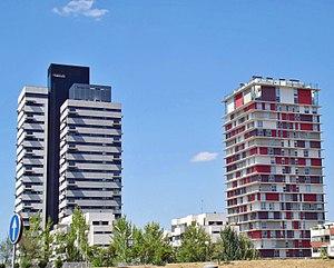 Hortaleza - Image: Torre Puerta de Chamartín y Torre Panorama (2)