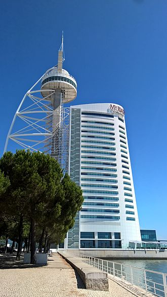 Vasco da Gama Tower - The lattice tower and skyscraper of the Myriad Hotel