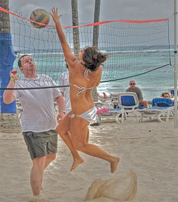 Tourists playing beach volley in Club Med.jpg