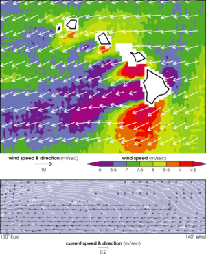 Climate of Hawaii - Image: Trade Winds Hawaii Quik SCAT aug 99