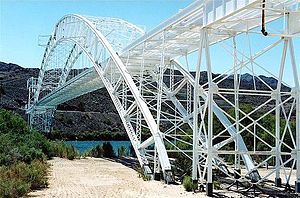 U.S. Route 66 in California - 1916 Trails Arch Bridge spanning the Colorado River