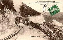 Le chemin de fer à rail central au sommet, vers 1910