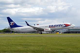 Travel Service (airline) - Travel Service Boeing 737-900ER landing in Prague