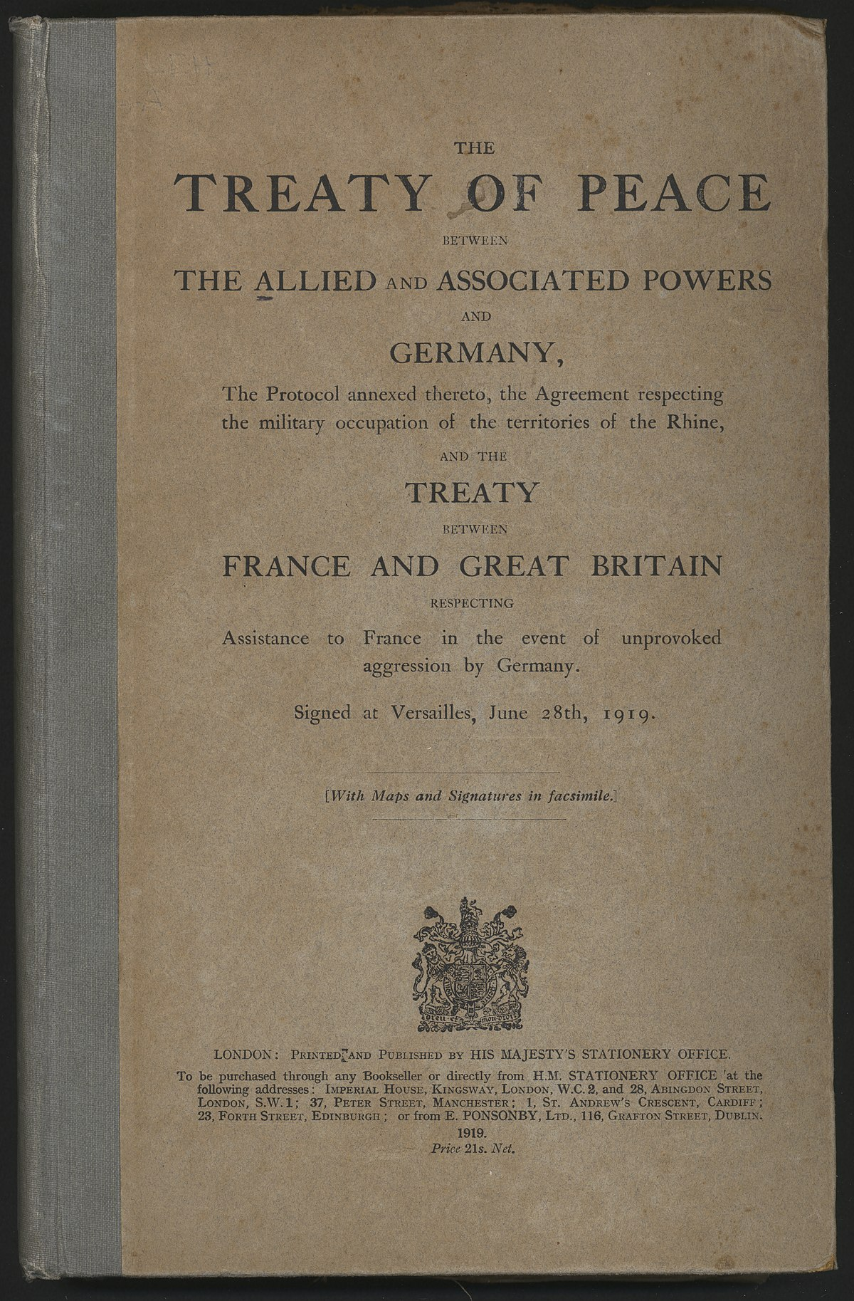 Treaty of Versailles - Wikipedia