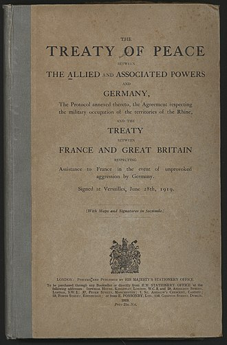 Treaty of Versailles - Cover of the English version