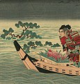 Tree under water detail, Flooded Takamatsu Castle and Shimizu Muneharu committed Seppuku by Toyonobu (cropped).jpg