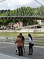Trio of Women by Bridge - Bilbao - Biscay - Spain (14427239429).jpg