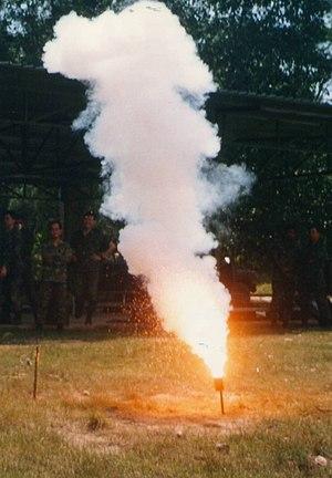 Thiokol-Woodbine explosion - Tripflare igniting
