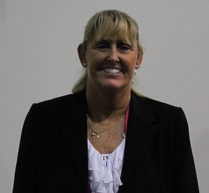 Trischa Zorn - Trischa Zorn at the London Summer Paralympic Games in 2012, where she presented a gold medal