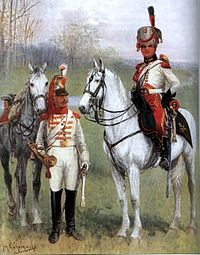 Trumpeters of Cuirassiers and Horse Artilery of Duchy of Warsaw.JPG