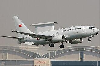 Boeing 737 AEW&C - Image: Turkish Air Force Boeing 737 700 Kv W