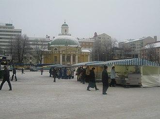 Market Square, Turku - Image: Turku Market Square Yliopistonkatu