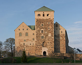 Turku Castle - Seen from the Port of Turku. The western end is iconic and is a symbol of the city.